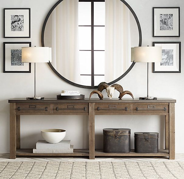 This Would Be So Gorgeous In Our Entry Way Early 20th C Zinc MirrorMetal MirrorThe MirrorConsole Table DecorConsole
