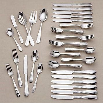 Pool 65-Piece Stainless Flatware Set by #Lenox