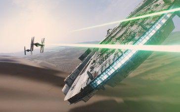 2015 Star Wars The Force Awakens Falcon IMAX Wallpaper