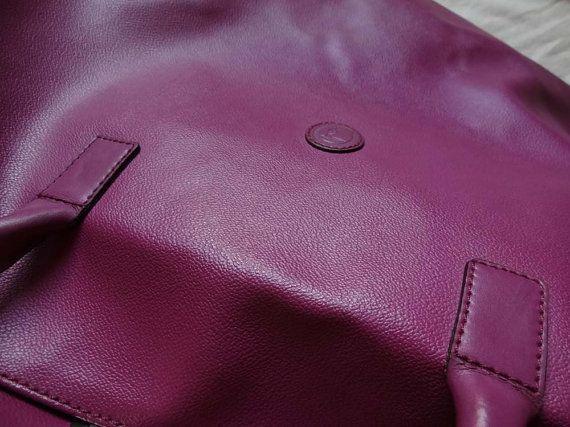 autentico vintage borsa da viaggio in pelle di Leschosesdemanu
