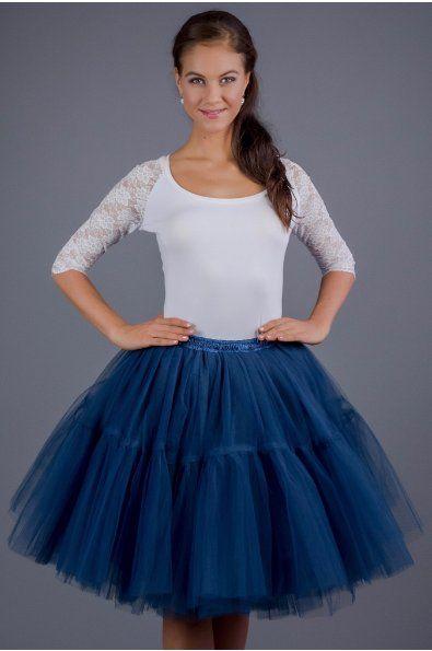 TUTU sukně s volánem - tmavě modrá tyl spodní neprůhledná vrstva ze saténu 3 vrstvy pevnějšího tylu pro požadovaný objem vrchní 2 vrstvy z jemného tylu příjemného na dotek www.miabella.cz/