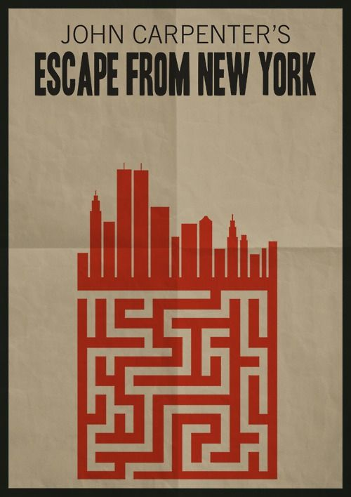 Minimalist Movie Poster: Escape From New York by Adam Armstrong