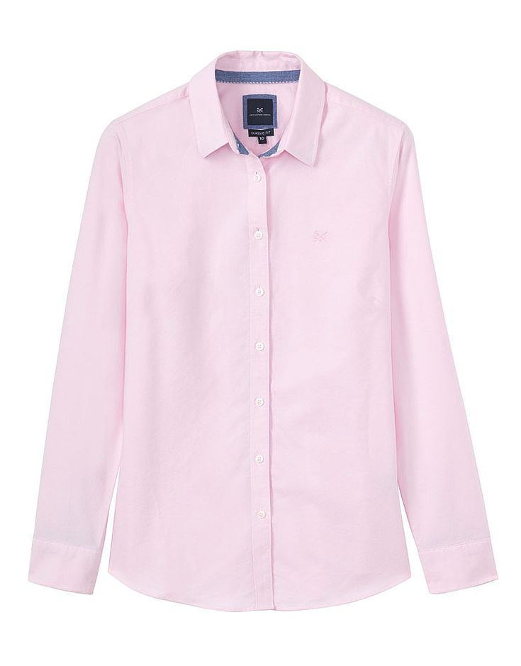 Women's Classic Oxford Shirt in Classic Pink from Crew Clothing