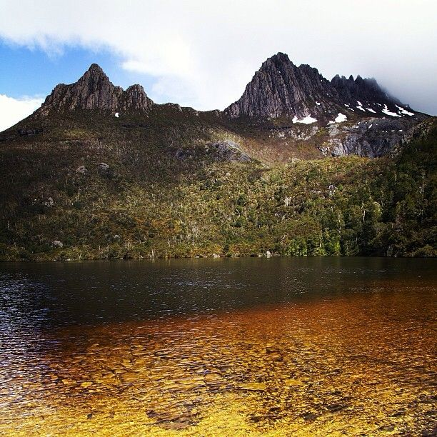 Cradle Mountain #Tasmania was our next port of call where we did a 2 hour hike around Dove Lake. It was chilly but well worth the sights.