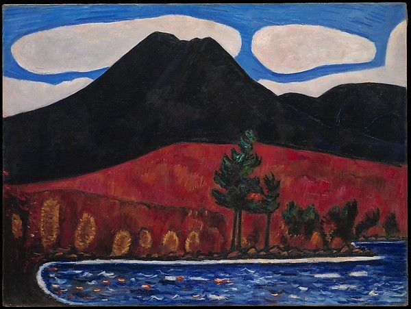 Marsden Hartley (American, 1877–1943). Mt. Katahdin, Maine, No. 2, 1939–40. The Metropolitan Museum of Arts, New York. Edith and Milton Lowenthal Collection, Bequest of Edith Abrahamson Lowenthal, 1991 (1992.24.3)