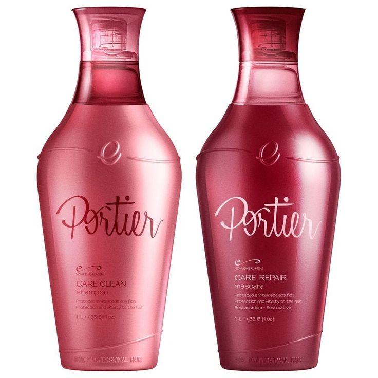 Escova progressiva Portier premium - Kit shampoo 1 litro e máscara 1 litro