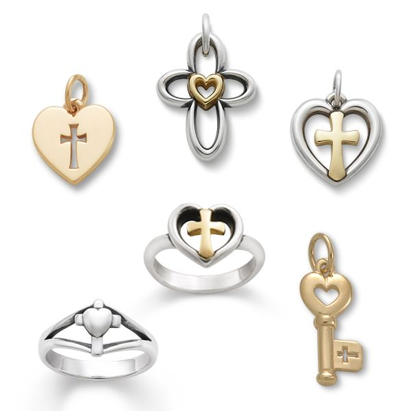 A cross for faith and a heart for love—united in these classic Avery designs. #JamesAvery