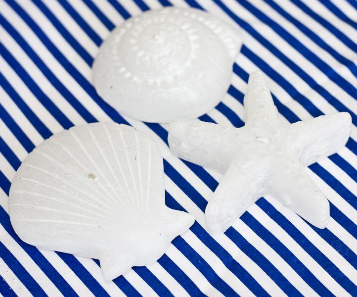 Świeczki muszle białe ::