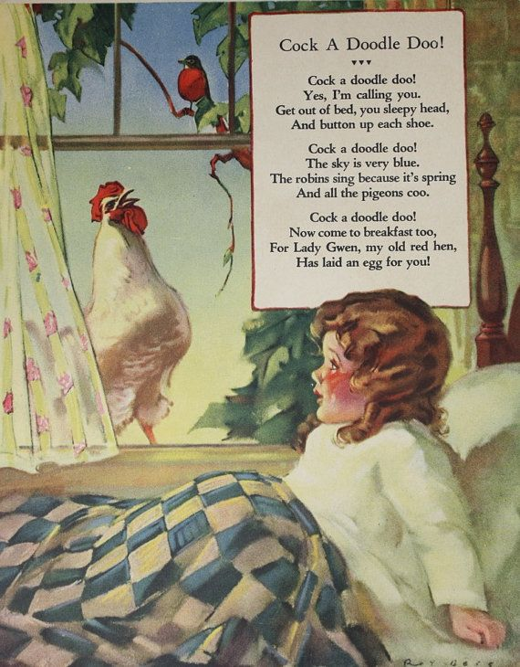Hey, I found this really awesome Etsy listing at https://www.etsy.com/listing/101885645/cock-a-doodle-doo-farm-nursery-rhyme