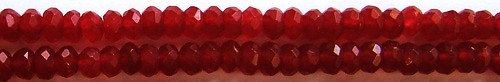 Candy Apple Red Designer Faceted Glass by BWDBeadsandSupplies