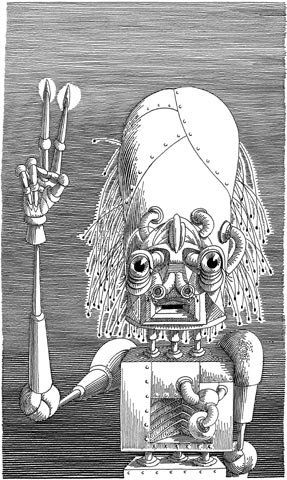 CYBERIADA St.Lem Wyd.Literackie 1972 ilustracja Daniel Mróz www.solaris.lem.pl