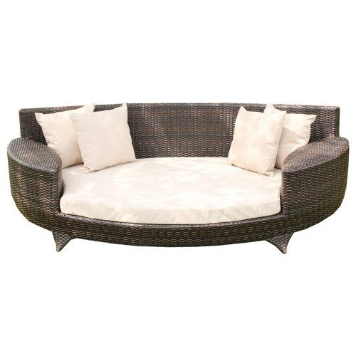 Love Sofa / Day Bed Brown All Weather Synthetic Outdoor Rattan Garden Furniture Lounger Wovenhill Rattan Garden Furniture http://www.amazon.co.uk/dp/B001FX5CYA/ref=cm_sw_r_pi_dp_xeYeub032SX39