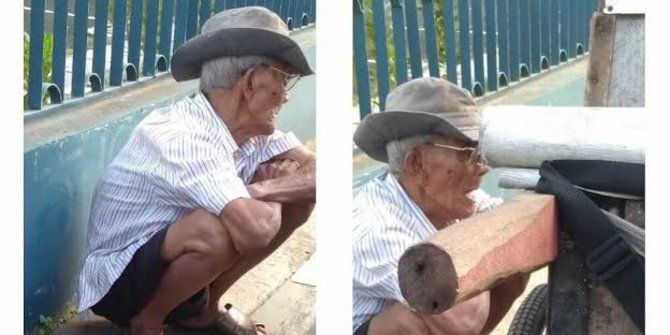 Cerita Seorang Kakek Penjual Abu Gosok di Sekitar Kampus Yang Menjadi Viral di Media Sosial.
