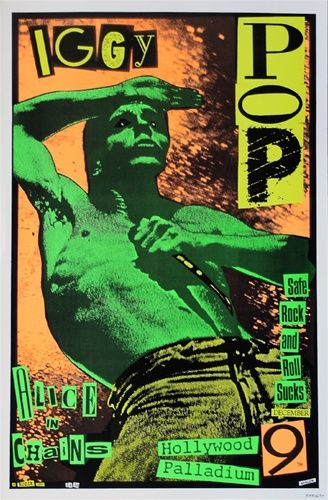 Frank Kozik - Iggy Pop Original Concert Poster