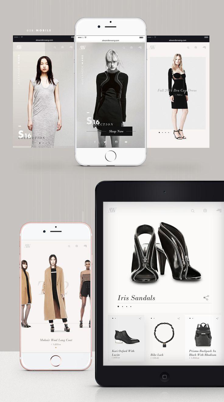Alexander Wang - Fashion Website | Abduzeedo Design Inspiration