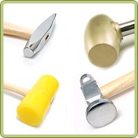 Beaducation offers a variety of hammers for sale. Each hammer has a specific purpose for metalworking and stamping. Refer to the table below to choose the correct hammer for the correct technique. www.beaducation.com