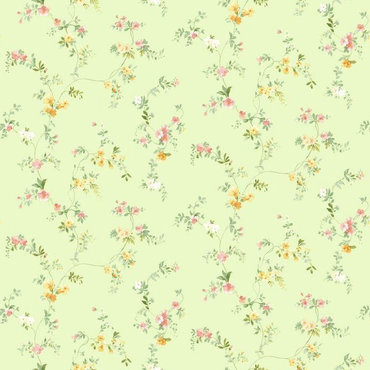DOUBLE ROLL Green mini Floral Print SM8578 in Home & Garden, Home Improvement, Building & Hardware, Wallpaper & Accessories, Wallpaper Rolls & Sheets | eBay