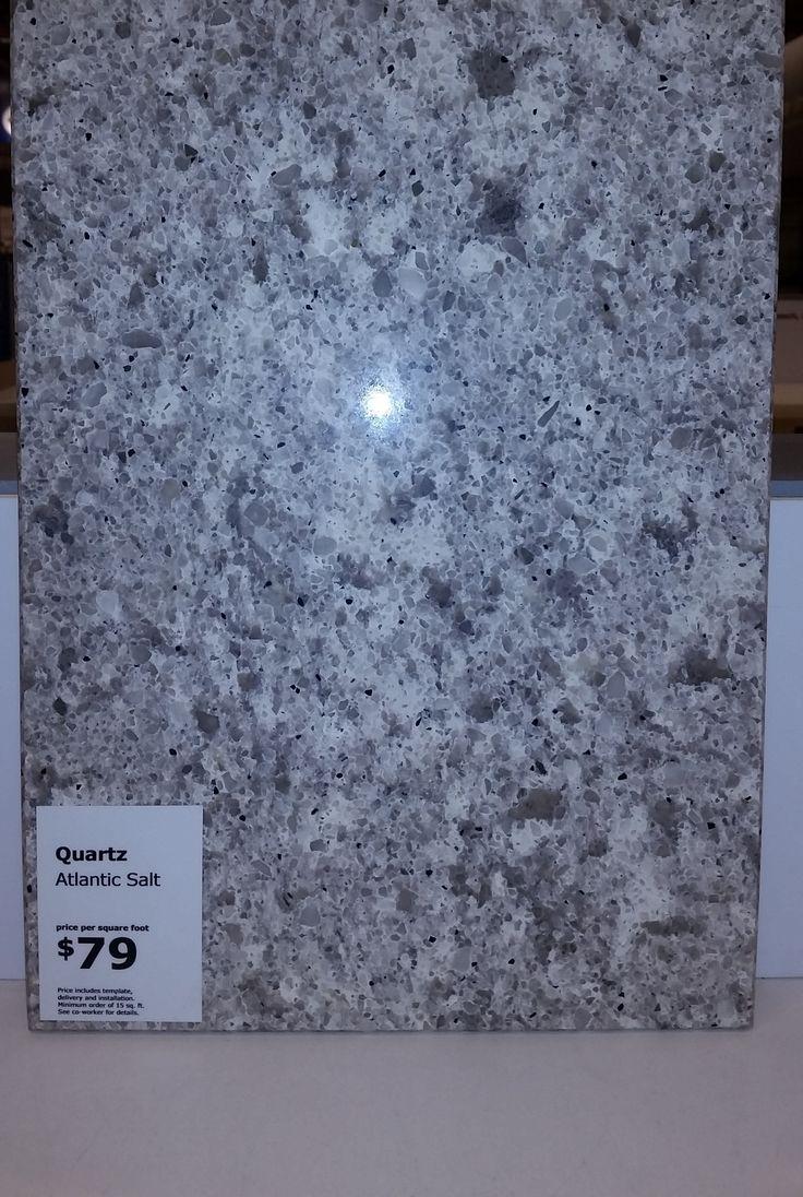Ikea Atlantic Salt quartz countertop. Total cost 79 per