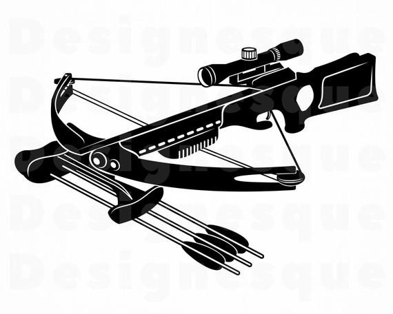 38+ Crossbow black and white clipart ideas in 2021