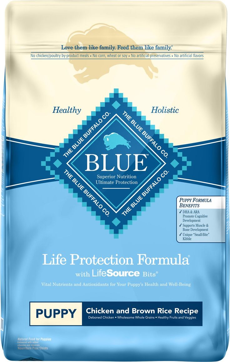 Blue Buffalo Life Protection Formula was created for the health and well-being of dogs. All formulas start with real meat, whole grains, garden veggies and fruit, plus added LifeSource Bits, a precise blend of nutrients that have been enhanced with a Super 7 package of antioxidant-rich ingredients. This Puppy Chicken & Brown Rice Recipe features delicious, protein-rich deboned chicken. And because puppyhood is such an important stage, it features ingredients that support healthy growth an...