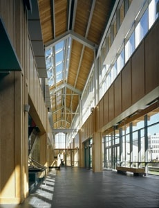 Douglas B. Gardner '83 Integrated Athletic Center (2007), Haverford College, Pennsylvania - by Bohlin Cywinski Jackson (LEED Gold)