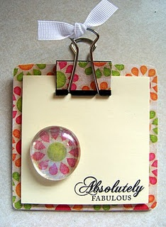 this post it clipboard it cute!
