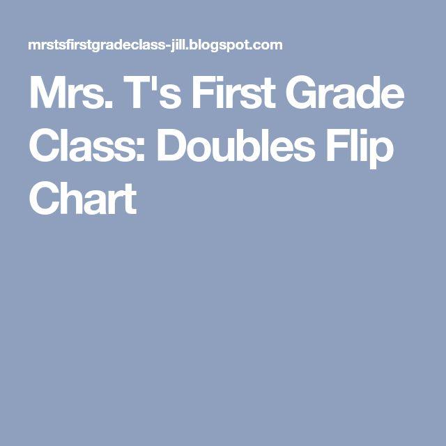 Mrs. T's First Grade Class: Doubles Flip Chart