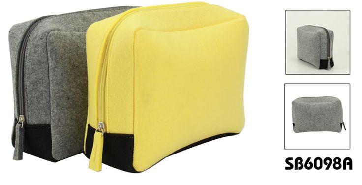 Felt cosmetic bag | Description: Material: 3mm felt+ nylon zipper No.5 | Dimension:26*17.7*8.3CM OEM designs are welcome!                     www.ideagroupigm.com