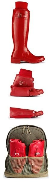 "@Hunter Boots new foldable ""Tour"" boot"