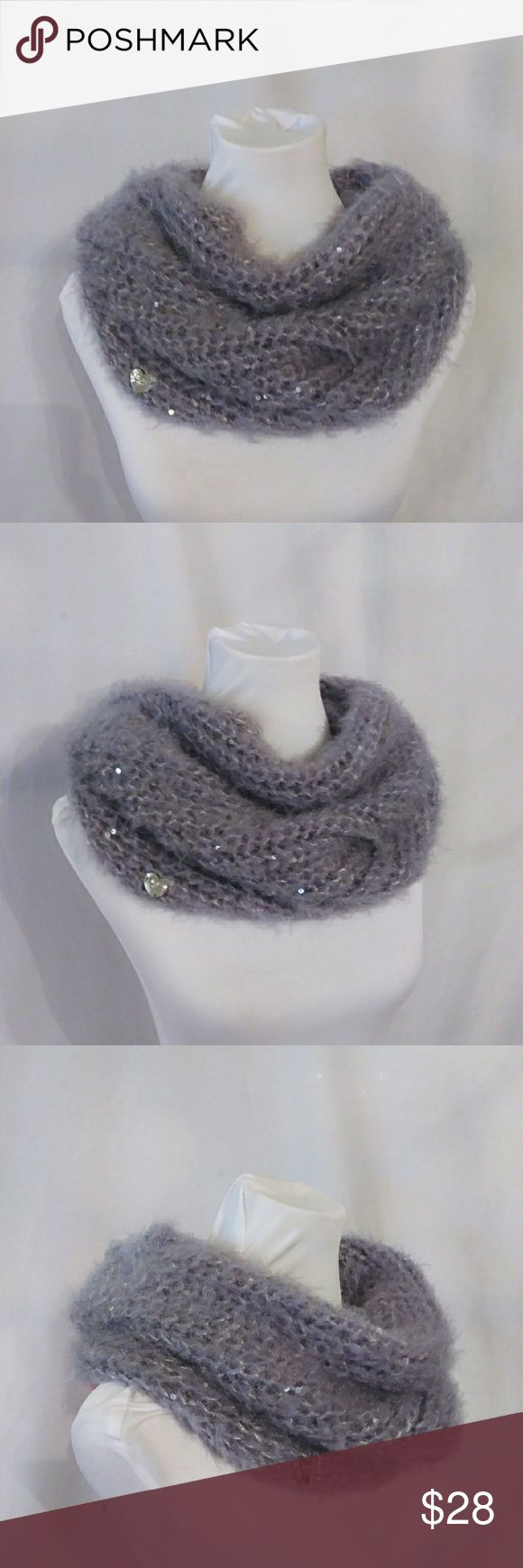 Betsey Johnson Fuzzy Wuzzy Snood Betsey Johnson Fuzzy Wuzzy Snood in Grey. Loop styling with sequin details and 100% polyester. Sparkly and cozy! Betsey Johnson Accessories Scarves & Wraps