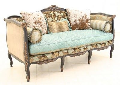Cowgirl Chic Sofa---omg i love this look!!! So perfect for josie