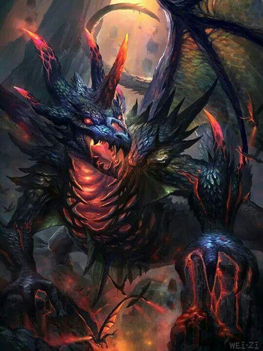 Evil Fire Dragon: Dragons,Everything, =-O B-)