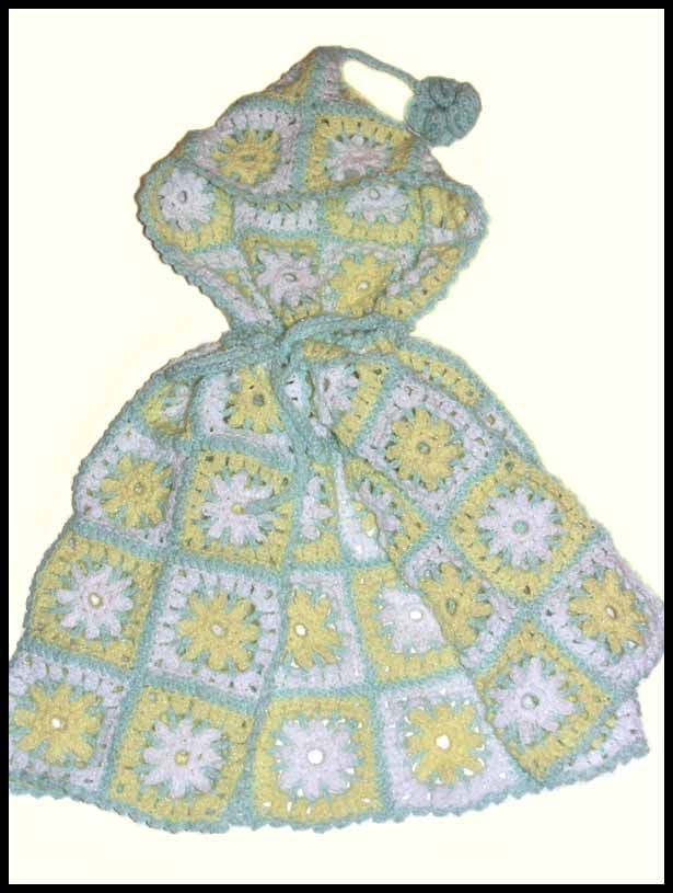 """Delicate Daisies"" hooded cape, sz toddler to 4 yrs, $35"