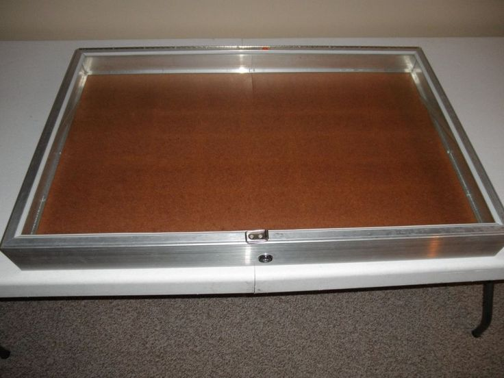 Allstate USA Aluminum USED Display Show Case for Knives Cards Gun Jewel BBCards