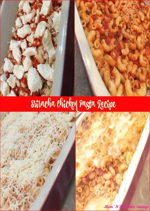 Chicken, Sriracha, Pasta Casserole, A Recipe I Made Up
