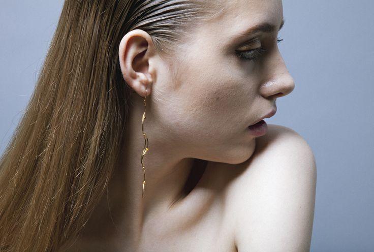 #ROSEIVY http://www.lizabelachew.com/roseivy/ 9KYG citrine drop earrings with 18KYG hook