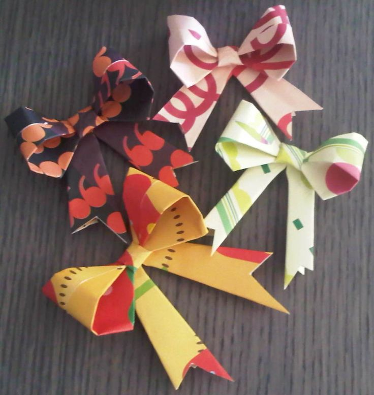 36 best paper crafts images on pinterest craft ideas cardboard fold a paper bow with left over wrapping paper mightylinksfo