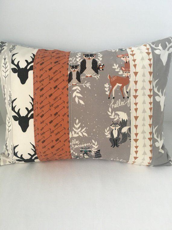 Patchwork Pillow Cover Nursery Pillow Throw Pillow Art Gallery