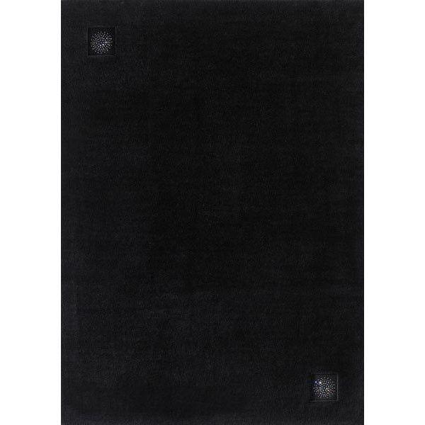 Черный ковер из шерсти с кристаллами Сваровски Swarovski Princess #carpet #rug #interior #designer #ковер #дизайн #swarovski #сваровски