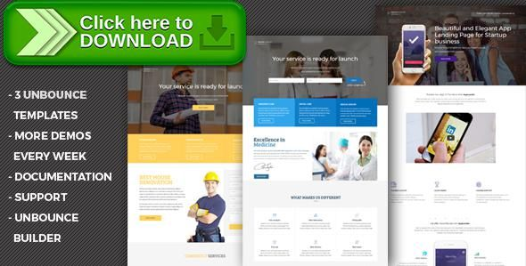 [ThemeForest]Free nulled download Premium - Unbounce Templates Pack from http://zippyfile.download/f.php?id=26386 Tags: business, construction, corporate, doctor, form, landing, marketing, medico, multipurpose, rent a car, responsive, saas, shop, unbounce, unbounce template
