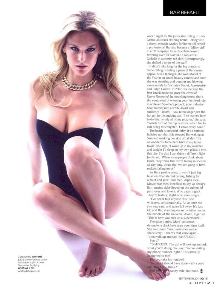 Gold Bar in GQ UK with Bar Refaeli - (ID:6780) - Fashion Editorial | Magazines…                                                                                                                                                                                 More