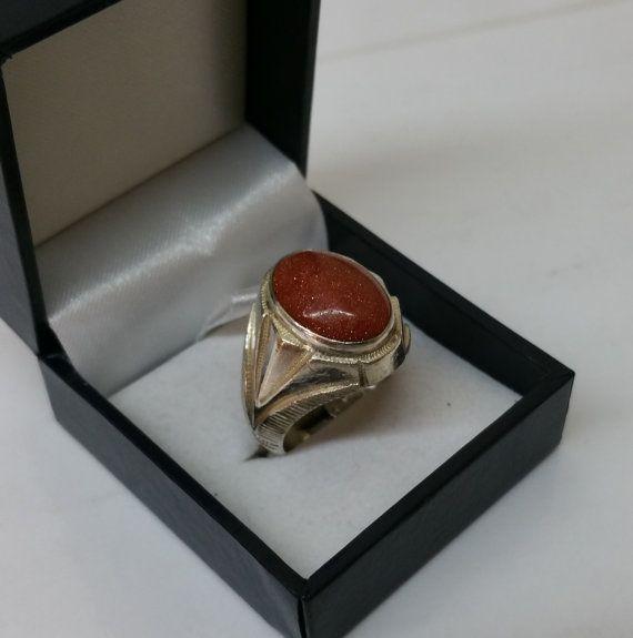 20 mm Ring Silber 835 mit Goldfluss Vintage SR648 von Schmuckbaron