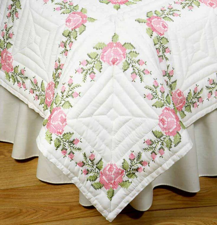 343 best Embroidered quilts images on Pinterest | Embroidered ... : embroidered quilts for sale - Adamdwight.com