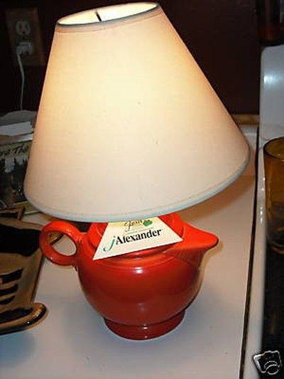 Fiesta® Teapot Lamp In Persimmon