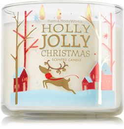 Holly Jolly Christmas 3-Wick Candle - Home Fragrance 1037181 - Bath & Body Works