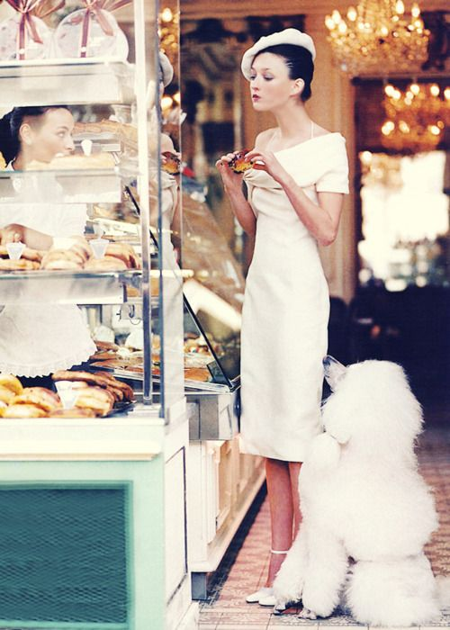 Audrey Marnay in Christian Dior Haute Couture | Ph. by Arthur Elgort. Vogue March 1999.