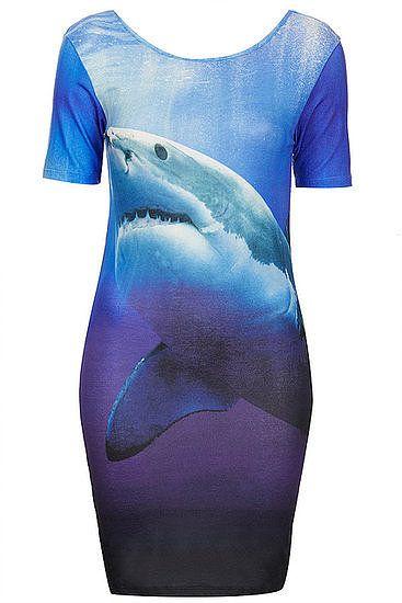 Shark dress for #SharkWeek