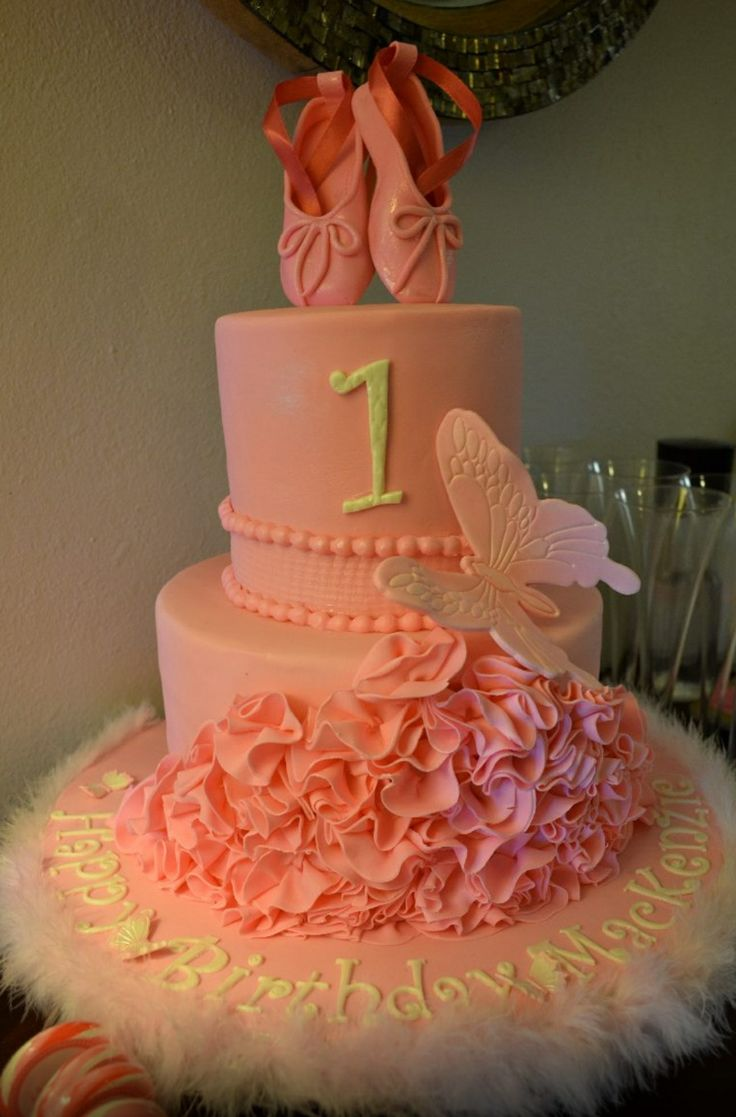 First Birthday Cakes - Ballerina Cake