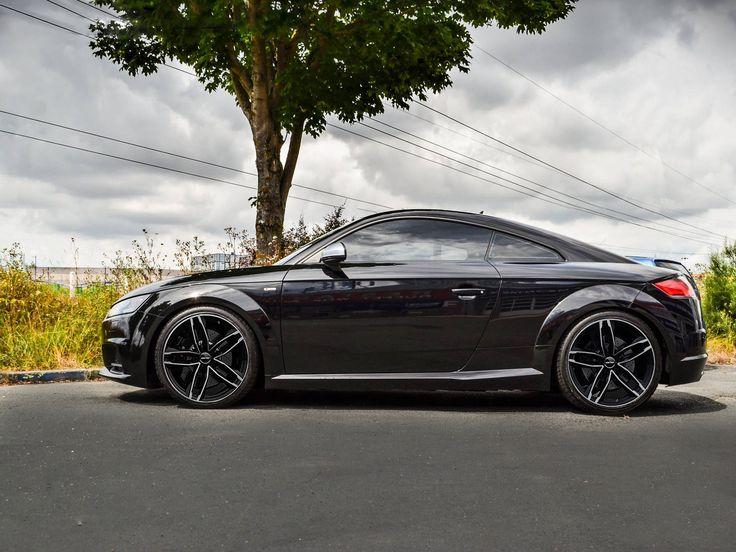Audi TT with Atom Black Diamond alloy wheels GMP Italia / Audi TT con ruote in lega Atom Nero diamantato GMP Italia http://www.gmpitalia.com/alloy-wheel-collection/2-atom