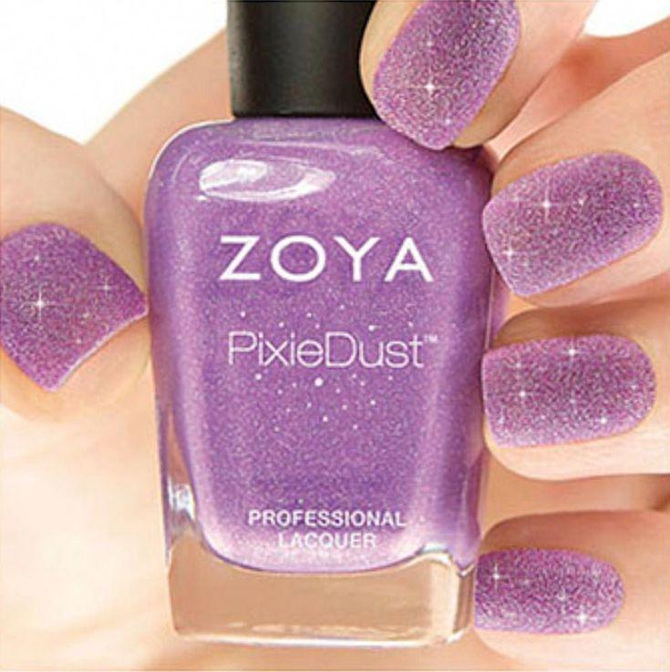 ZOYA PixieDust ZP675 STEVIE violet matte sparkle nail polish lacquer PIXIE DUST …